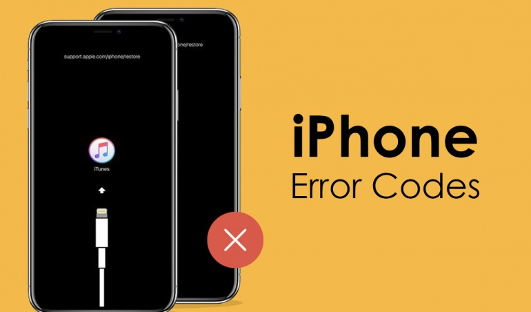 iPhone error codes