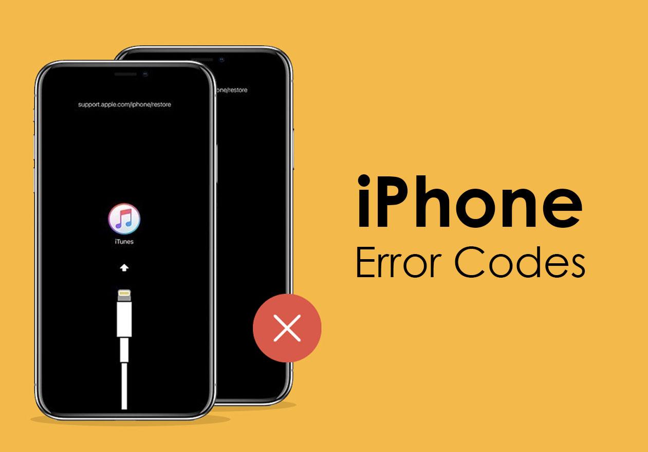iPhone error codes